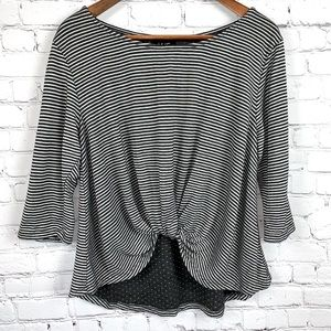 Anthro W5 Stripe Knot Front Top